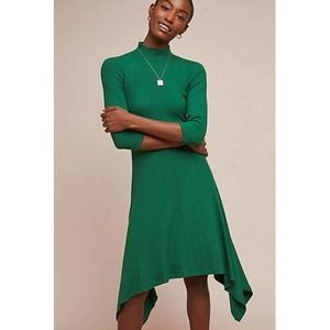 Building 18 Anthropologie Green Ribbed Dress